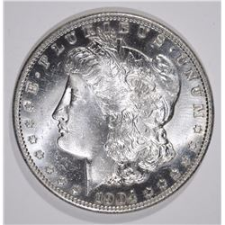 1904-S MORGAN SILVER DOLLAR, CHOICE BU cleaned toned  RARE!!