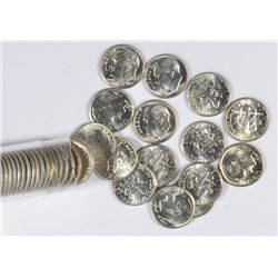 GEM BU ROLL OF 1957-D ROOSEVELT DIMES ( 50 )
