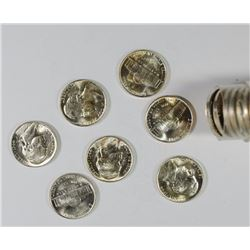 GEM BU ROLL OF 1944-P JEFFERSON NICKELS, TOUGH!