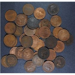( 40 ) AVERAGE CIRC CANADIAN LARGE CENTS
