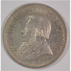 1897 South Africa, 2- 1/2 Shillings, XF, 92.5% Silver, .4204 ozt, KM #7