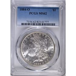 1884-O MORGAN SILVER DOLLAR PCGS MS-62