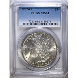 1902-O MORGAN SILVER DOLLAR PCGS MS 64