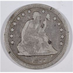 1877-CC SEATED QUARTER - FINE