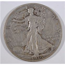 1938-D WALKING LIBERTY HALF DOLLAR - KEY DATE - FINE