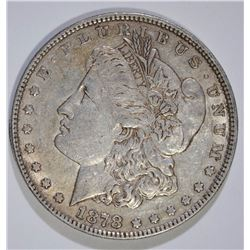 1878 7F MORGAN SILVER DOLLAR, AU  ORIGINAL