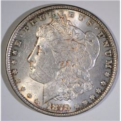 1878 REVERSE OF 79 MORGAN SILVER DOLLAR, AU/UNC  NICE!