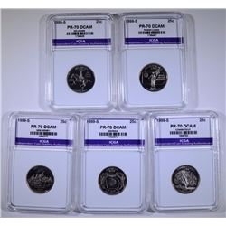 1999-S STATE QUARTER SET- ALL PERFECT GEM PROOF ICGA DCAM
