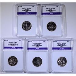 2000-S STATE QUARTER SET- ALL PERFECT GEM PROOF ICGA DCAM