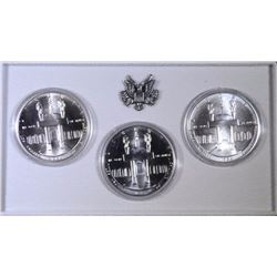 1984 PDS OLYMPICS SILVER DOLLAR SET (3 COINS)