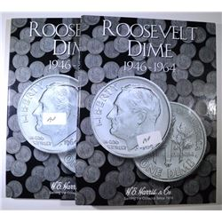 18 PROOF ROOSEVELT DIMES IN ALBUMS - 1955 THRU 1964, 10 PROOFS PLUS