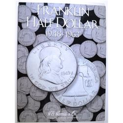 10 BU FRANKLIN HALF DOLLARS IN ALBUM: 1948, 1950, 1951, 1952,