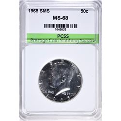 1965 SMS KENNEDY HALF DOLLAR PCSS SUPERB GEM + BU