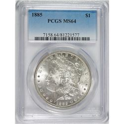 1885 MORGAN DOLLAR PCGS MS-64