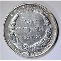 1920 MAINE COMMEMORATIVE HALF DOLLAR,  BU