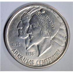 1936 ARKANSAS COMMEMORATIVE HALF DOLLAR, CHOICE BU