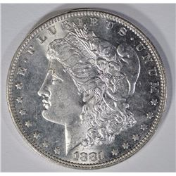 1881 MORGAN SILVER DOLLAR, CHOICE BU