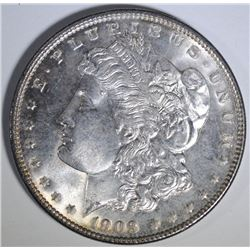 1903 MORGAN SILVER DOLLAR, CHOICE BU