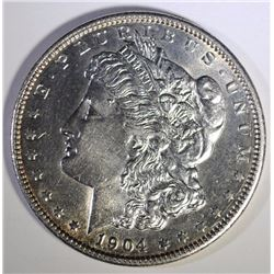 1904 MORGAN SILVER DOLLAR, CHOICE BU  BETTER DATE