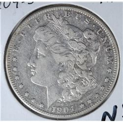 1904-S MORGAN SILVER DOLLAR - XF - KEY DATE