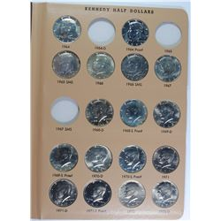 (112)  KENNEDY HALF DOLLARS IN DANSCO ALBUM GEM BU+ GEM PROOFS MANY SILVER COINS