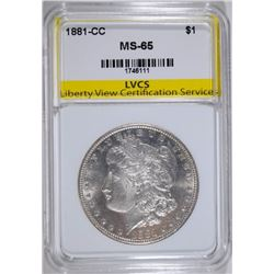 1881-CC MORGAN SILVER DOLLAR, LVCS GEM BU!