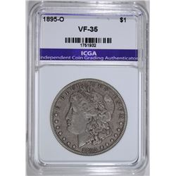 1895-O MORGAN SILVER DOLLAR ICGA VF