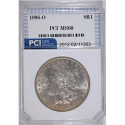 1896-O MORGAN SILVER DOLLAR, PCI  CHOICE BU