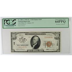 1929 $10 TYPE 1 NATIONAL CURRENCY 1ST NATIONAL BANK & TRUST CO. OF ELMIRA, NY