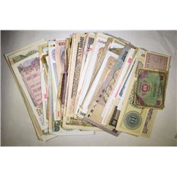 150 PCS MIXED FOREIGN CURRENCY  NICE