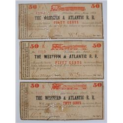 ( 3 ) 50-CENT NOTES FOR THE WESTERN & ATLANTIC RAILROAD