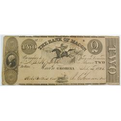 1831 $2.00 BANK OF MACON GEORGIA NOTE, VF