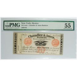 NEW YORK, MEXICO 10-CENT NOTE ( CHANDLER & AMES BANKERS ) PMG 55