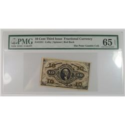 10-CENT FRACTIONAL NOTE, PMG 65 EPQ  FR #1251
