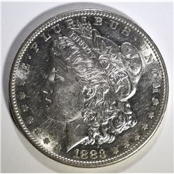 1883-S MORGAN SILVER DOLLAR BU HAS PROOF LIKE LOOK, VERY FLASHY