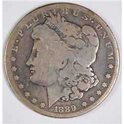1889-CC MORGAN SILVER DOLLAR, VG  KEY DATE!