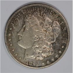 1892-S MORGAN DOLLAR XF/AU