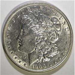 1900-S MORGAN SILVER DOLLAR, BU  KEY DATE