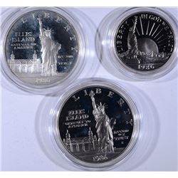1986 STATUE of LIBERTY PROOF SILVER DOLLAR & '86 STATUE of LIBERTY 2pc PROOF SET