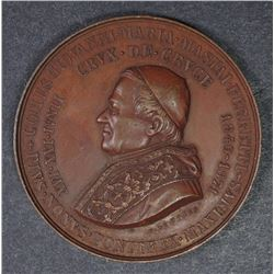 BRONZE PAPAL MEDAL POPE PIUS IX JUBILEE MEDAL 1846-71