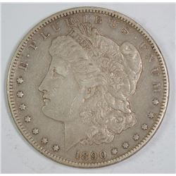 1890-CC MORGAN SILVER DOLLAR, XF  SEMI-KEY