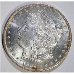 1904-O MORGAN SILVER DOLLAR, CHOICE BU PL