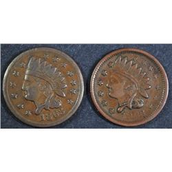 ( 2 ) 1863 CIVIL WAR TOKENS ( NOT ONE CENT )
