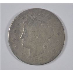 1886 LIBERTY NICKEL, AG KEY DATE