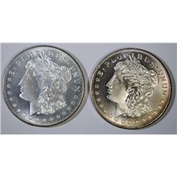 ( 2 ) ONE OUNCE .999 SILVER REPLICA MORGAN SILVER DOLLARS