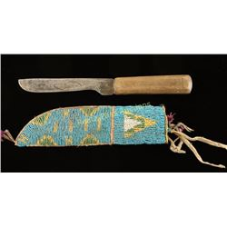 Indian Trade Knife & Scabbard