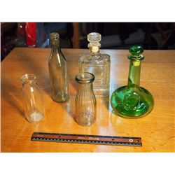 Lot Of Glassware (5) (Dominion Dairy, Regina Sask)