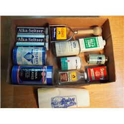 Lot Of Misc. Tins, Spice, Salt Etc.