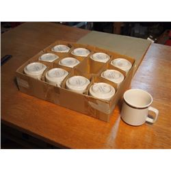 Complete Set Of Genuine Stoneware Mugs (12)