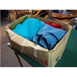 Box Full Of Gunney Sacks And Fabric